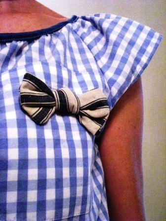 Haut vichy en chemise d'homme détail Pimprelys