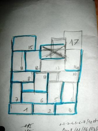 Plan de l'étagère en caisses de vin Pimprelys