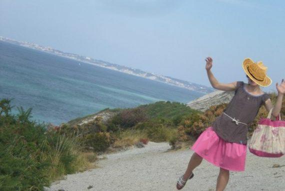 Tunique terre et mer à pois bleu pays basque