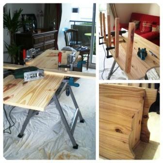 Etapes de fabrication meuble en caisses de vin