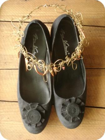 Chaussures customisées avec de la réglisse