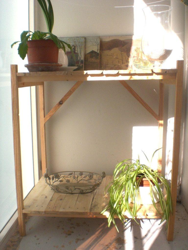 Jardinière en bois de palette