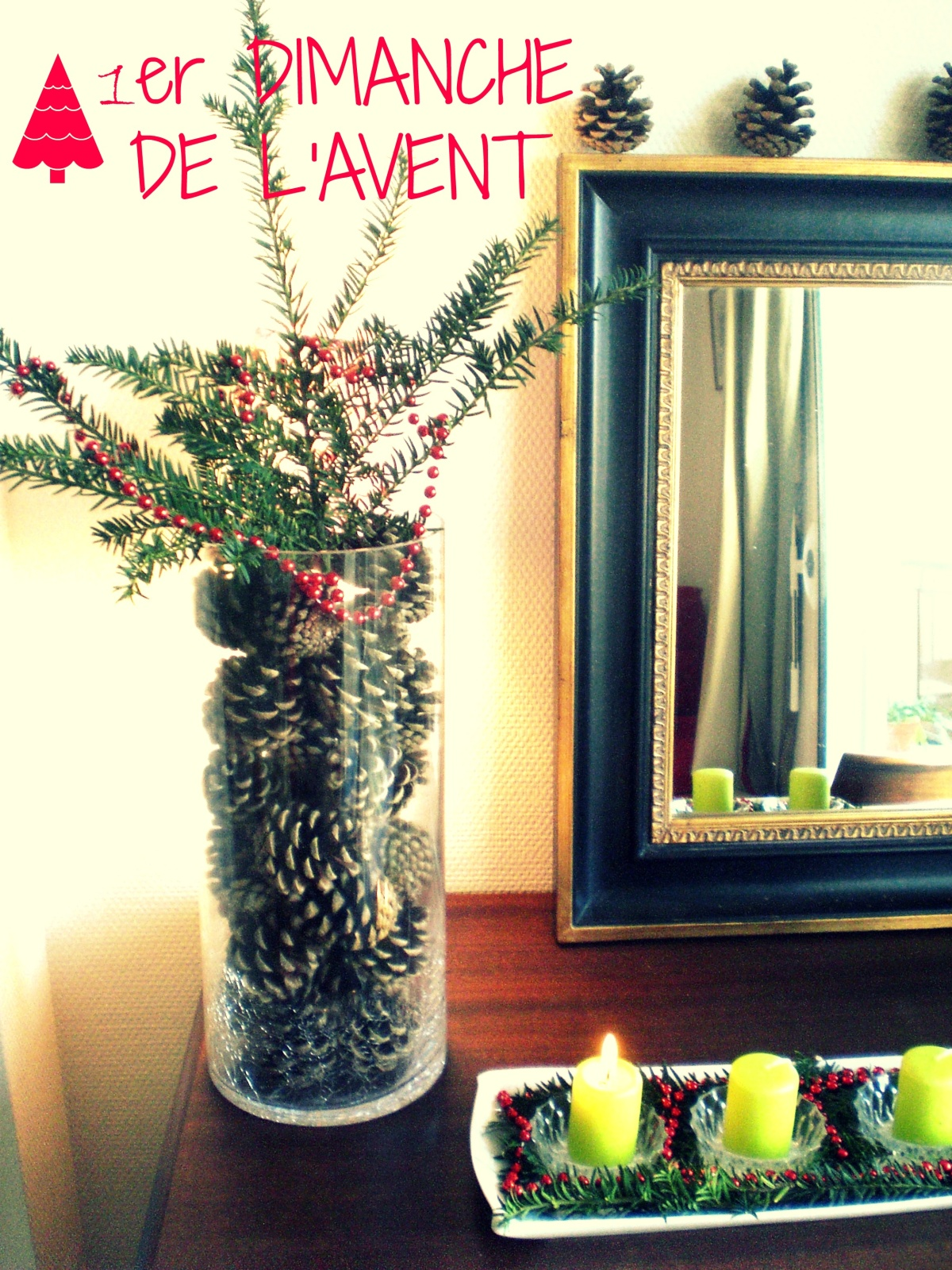 diy couronne de l 39 avent revisit e et toiles en tissu pimprelys blog d co. Black Bedroom Furniture Sets. Home Design Ideas