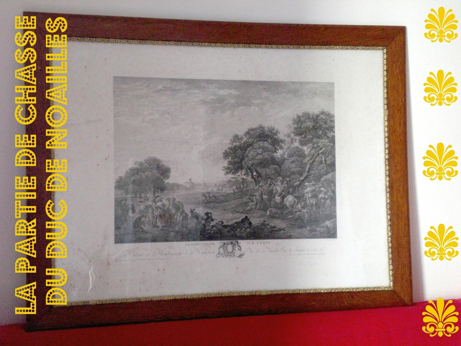 Restauration d'une gravure de chasse