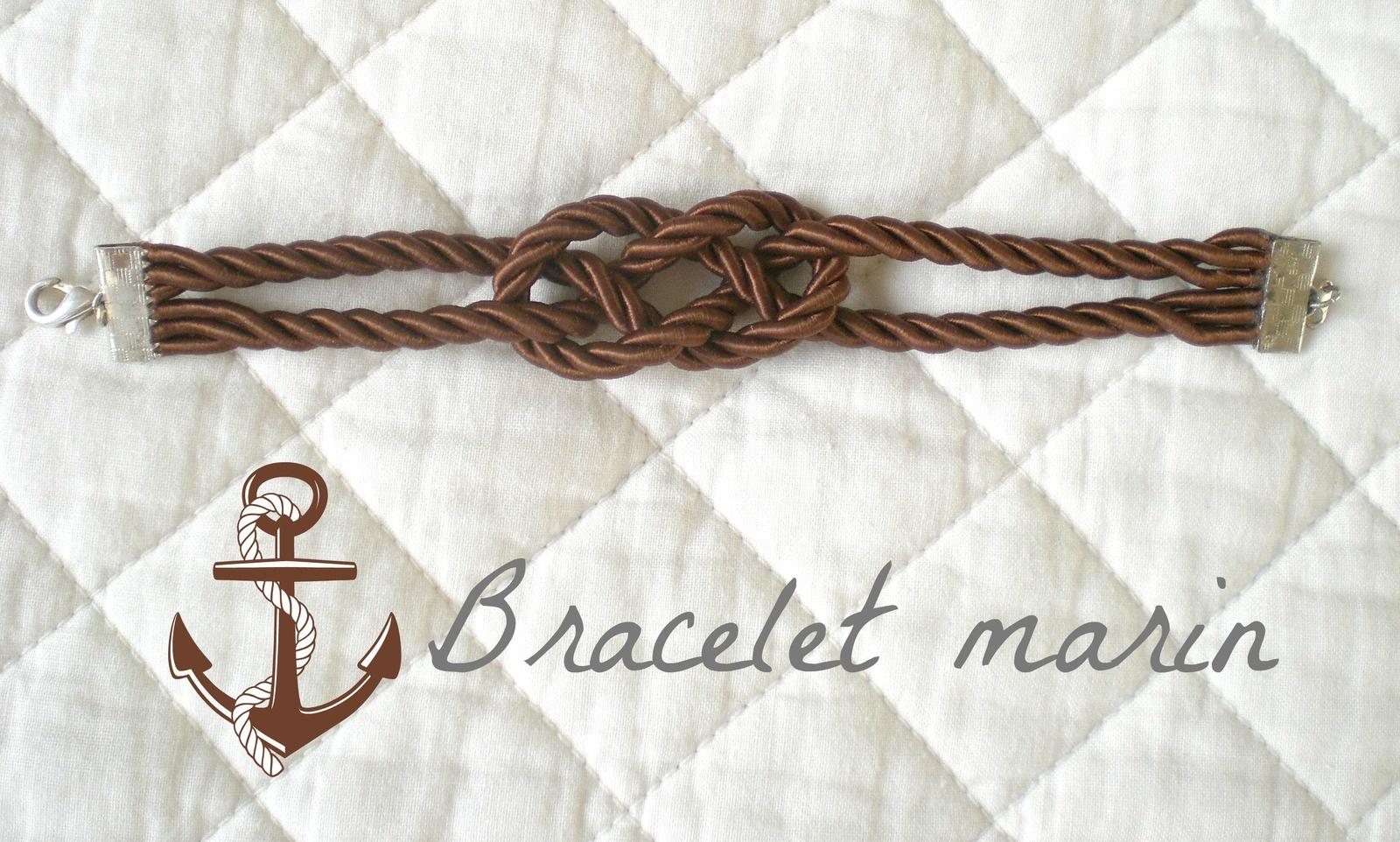 Bracelet au nœud marin
