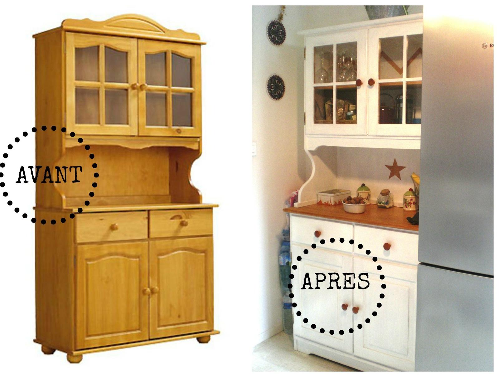 Vaisselier blanchi shabby pour la cuisine 2 pimprelys blog d co r cup - Ceruser un meuble en pin ...