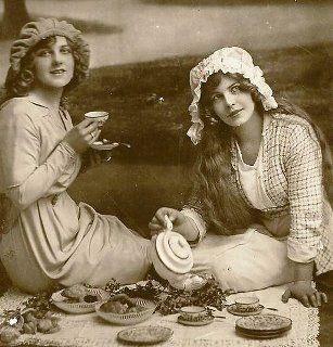 L'heure du thé photo ancienne vintage