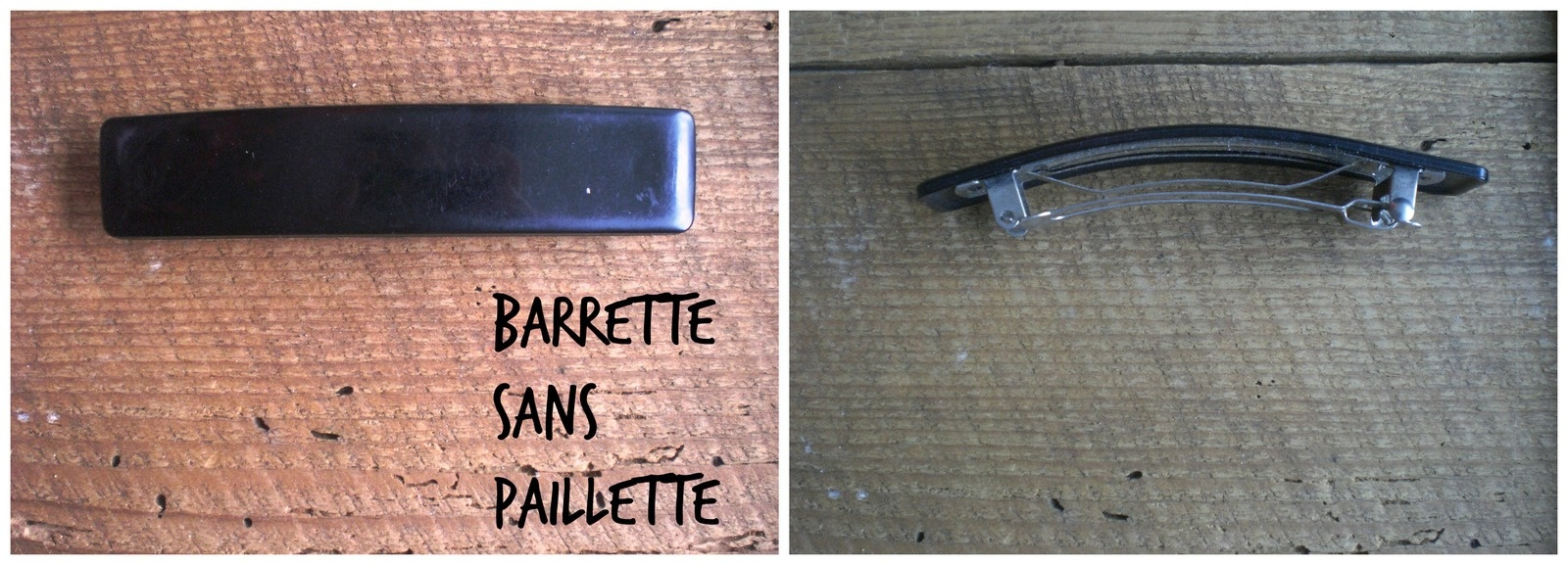 barrette toute simple avant