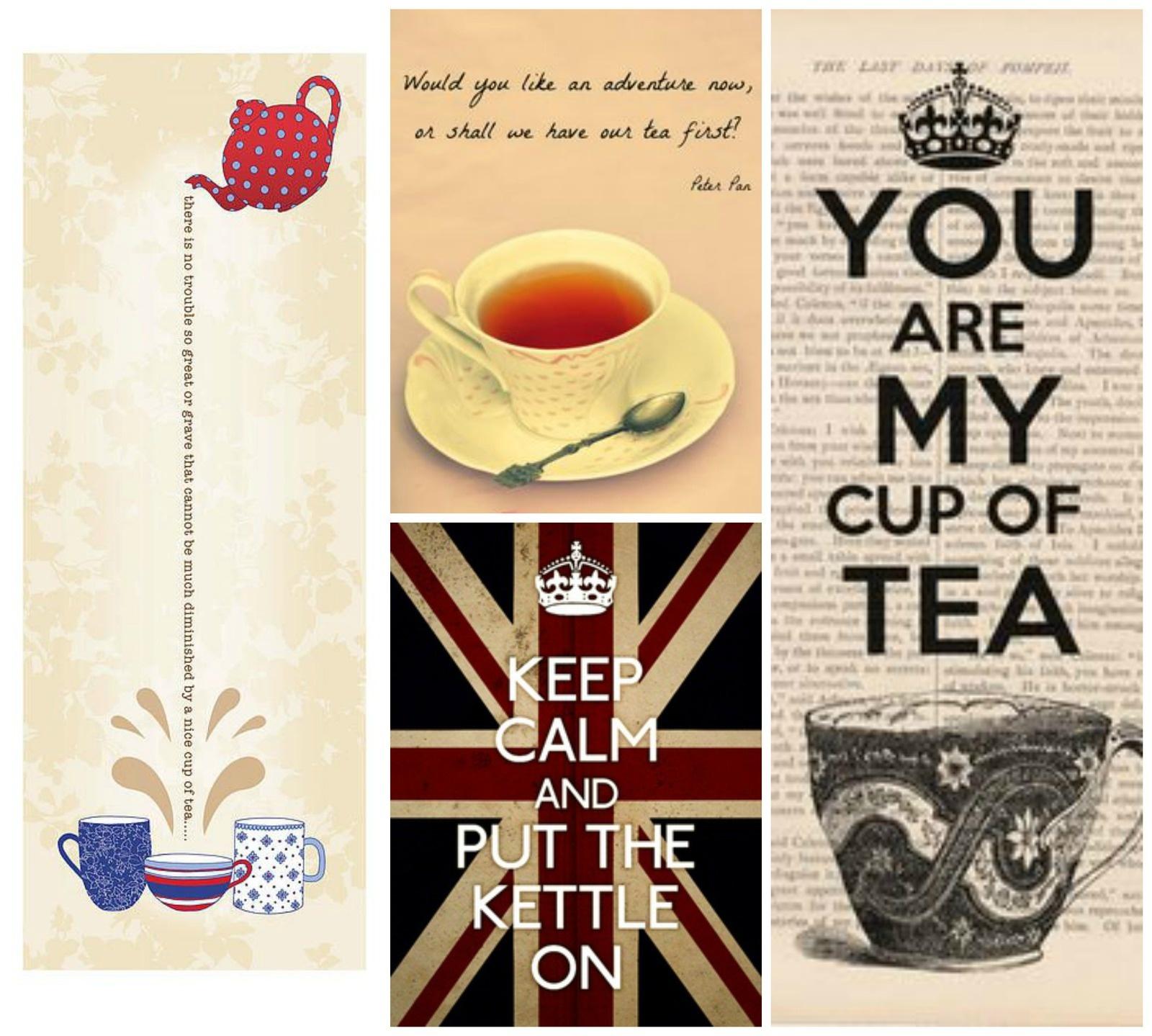 Citations et illustrations sur l'heure du thé
