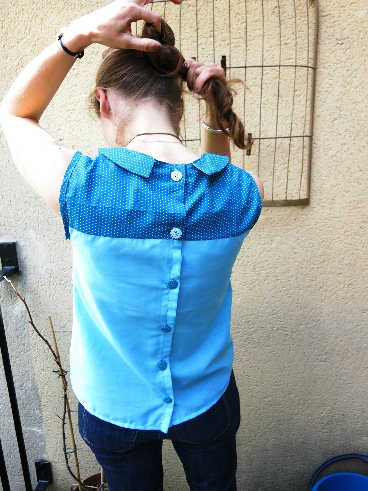 tunique boutonnée dans le dos couture pimprelys