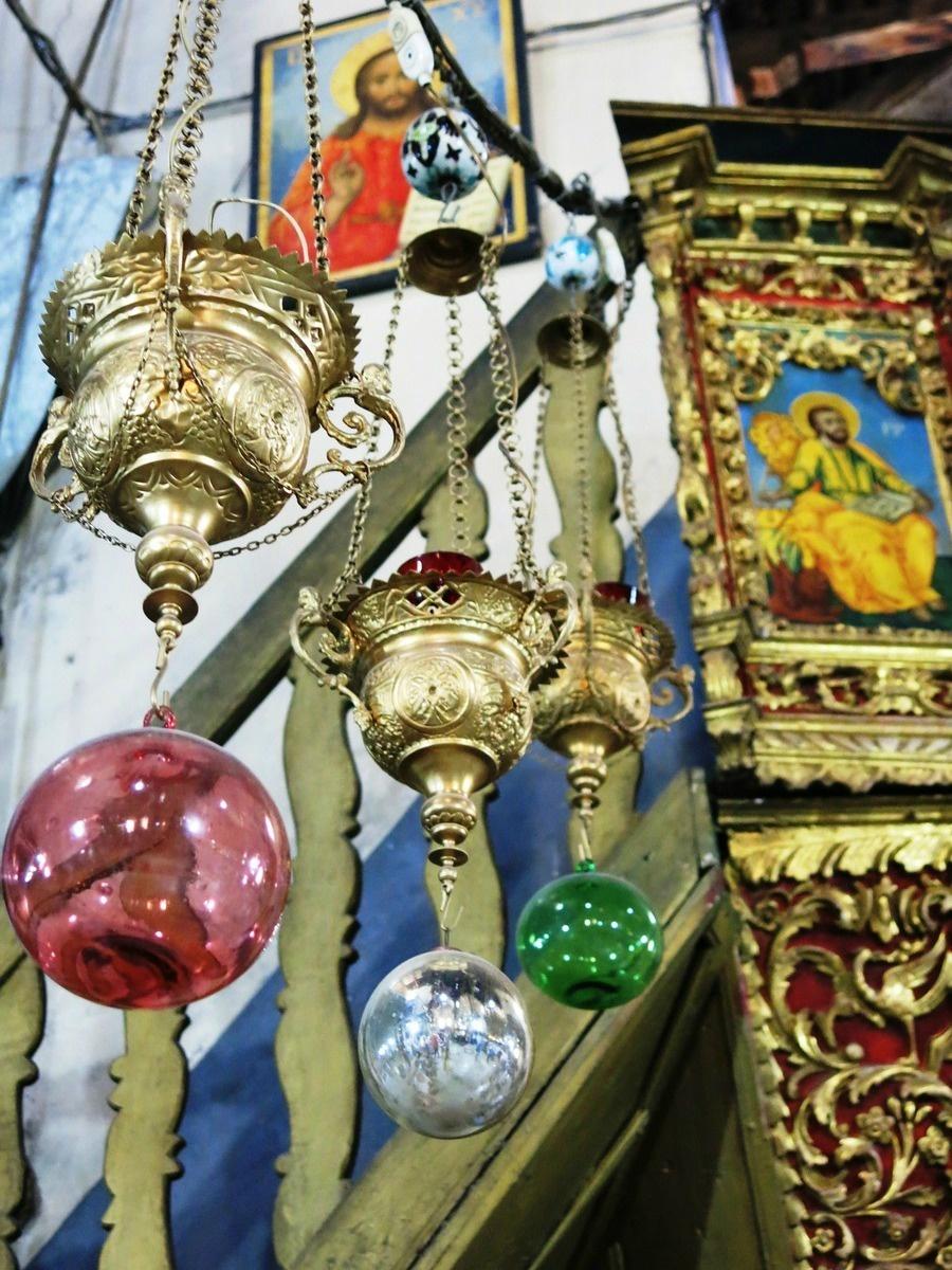 terre sainte en israel Focus Magnifiques lampes suspendues à la basilique de la Nativité à Nazareth