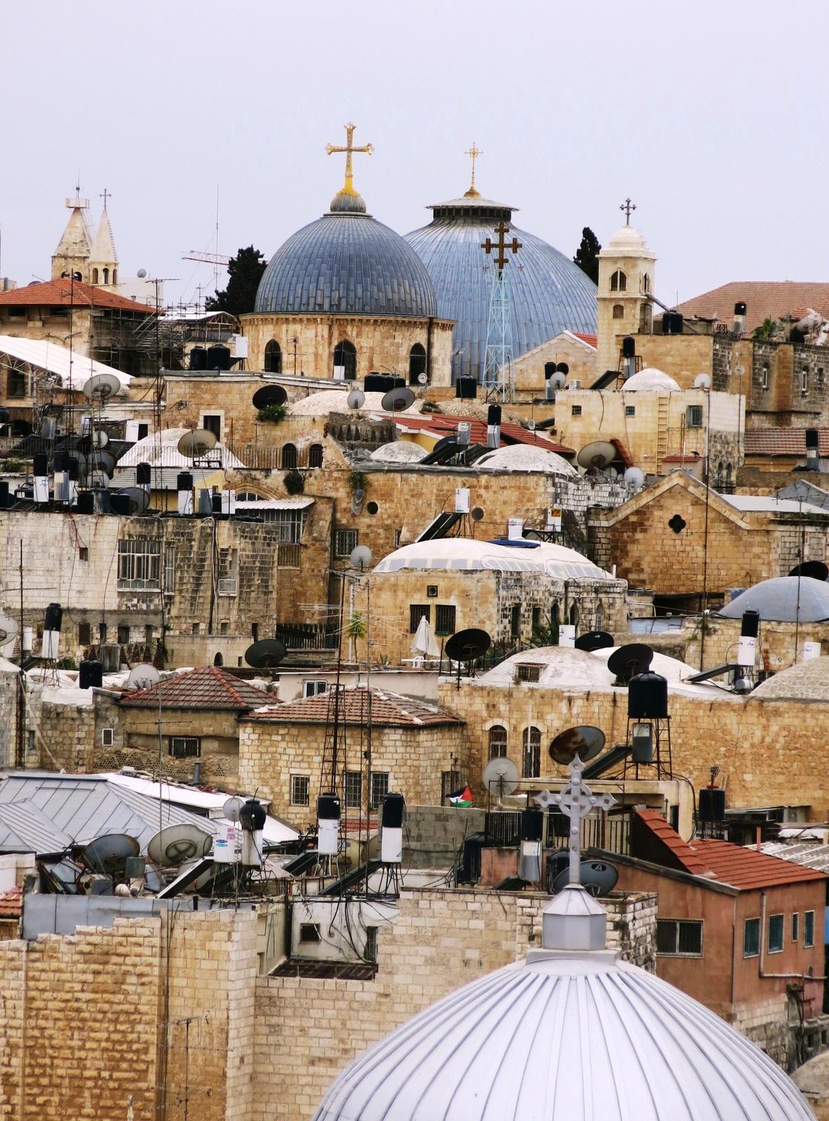 terre sainte israel monuments et lieux Toits de Jérusalem