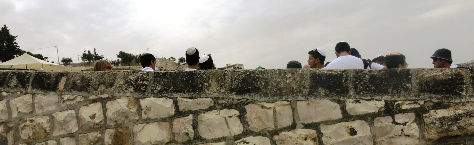 Terre sainte Israël Les gens Juifs derrière un mur