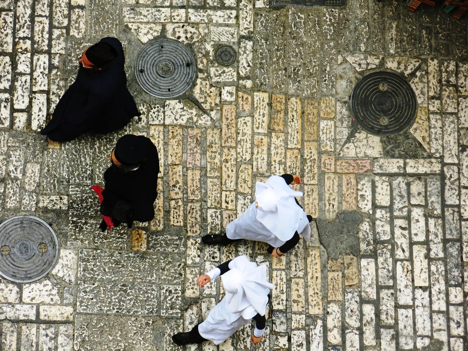 Terre sainte Israël Les gens Noir & Blanc