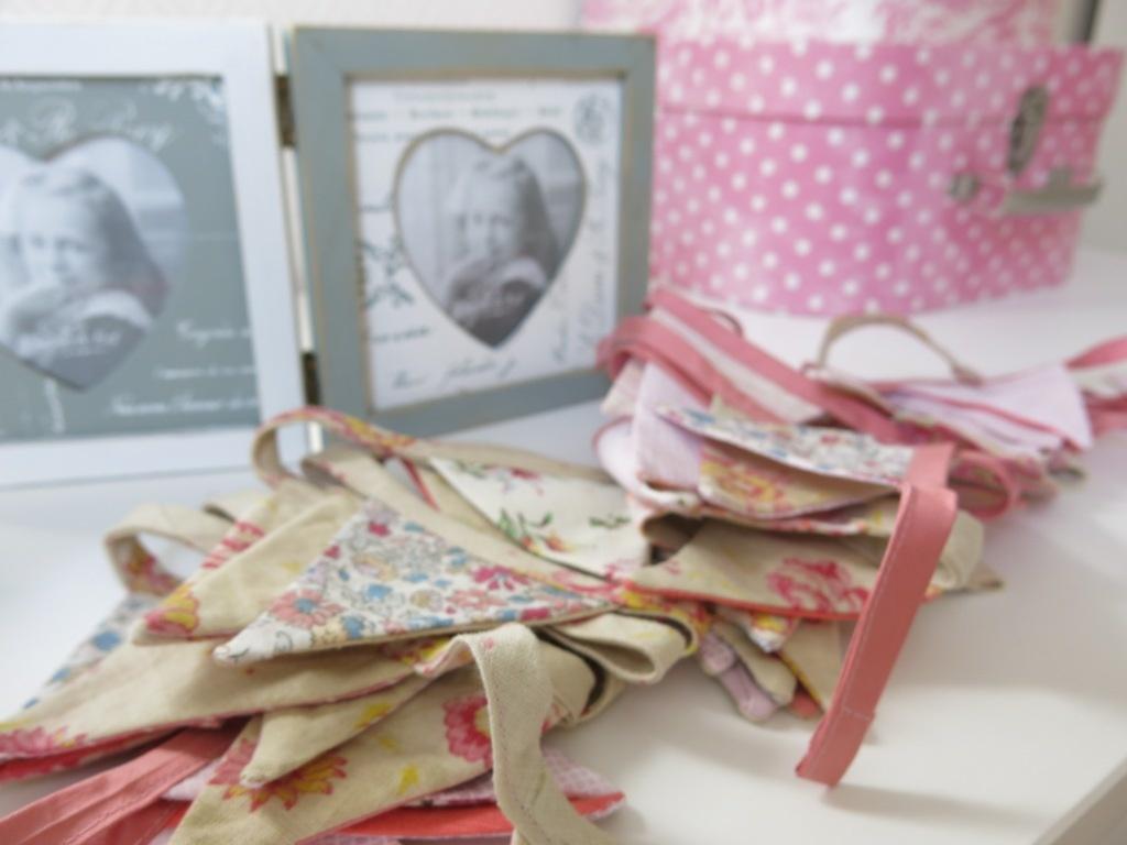 GUIRLANDE #5 : Fanions en tissu