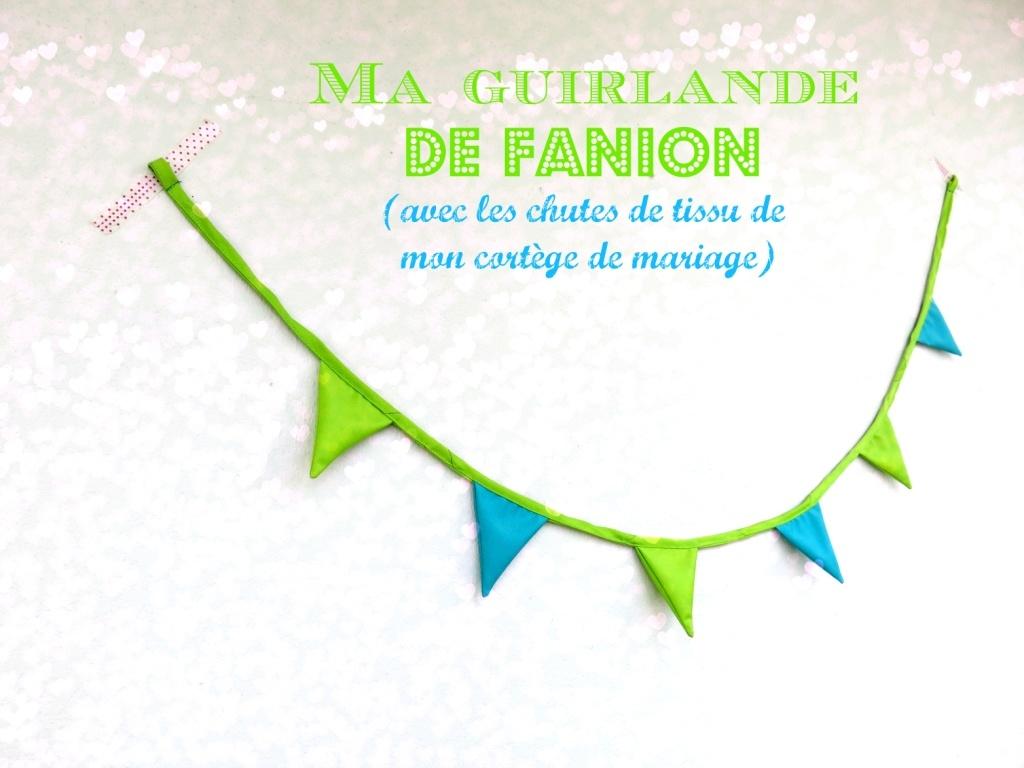 Guirlande #2 : fanions bleus et verts
