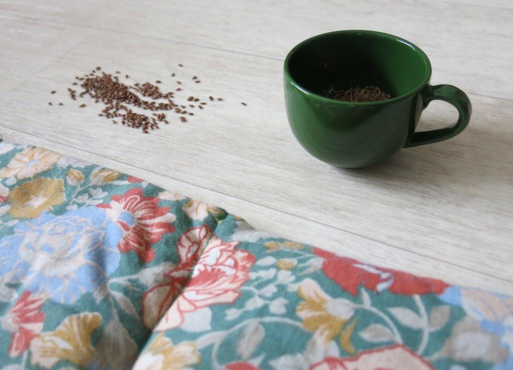 Bouillotte écolo en graine de lin