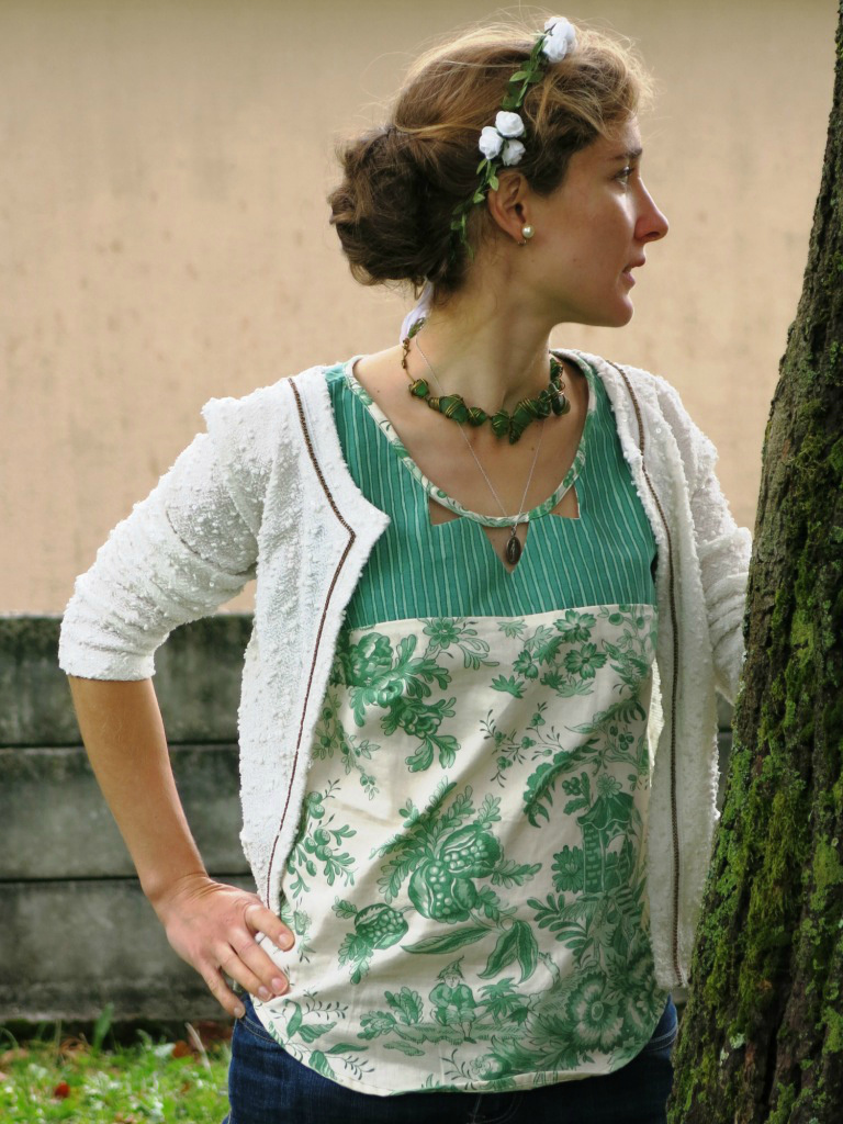 Ma blouse Datura en tapisserie