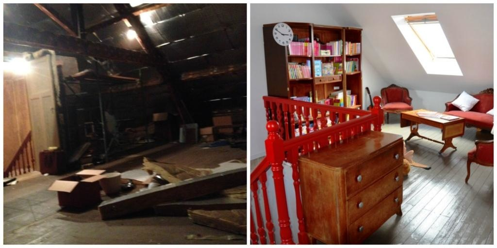 grenier aménagé avant-après
