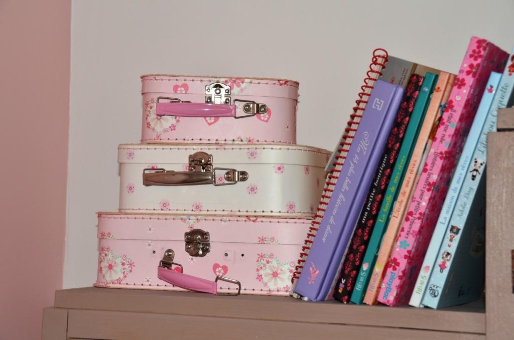 Les valises superposées pour la chambre de fille