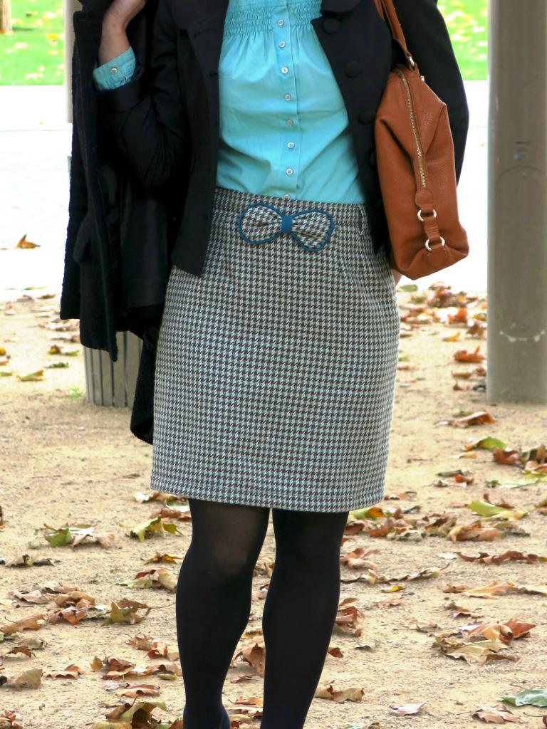 Customisation d'une jupe vintage