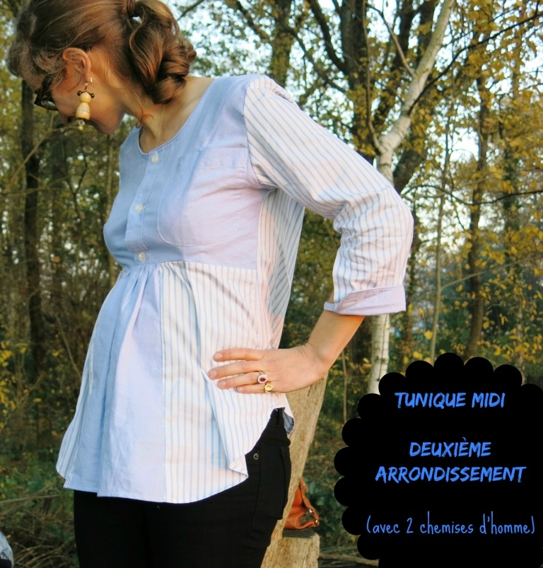 Garde-robe de grossesse #1 : Blouse en chemise d'homme