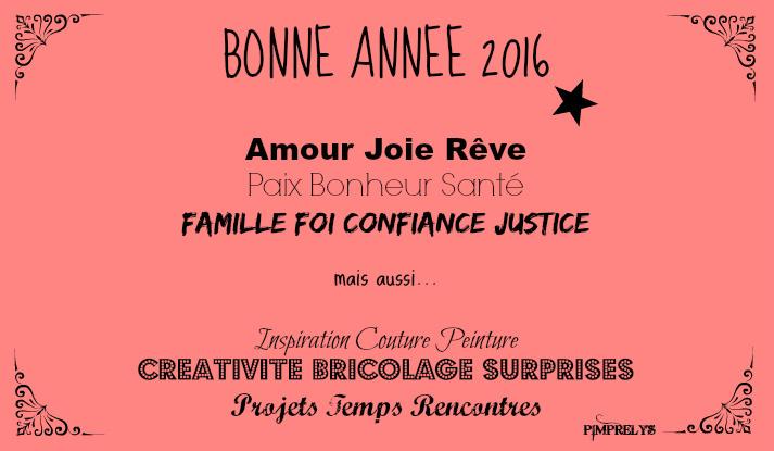 BONNE ANNÉE 2016 + BIG NEWS !