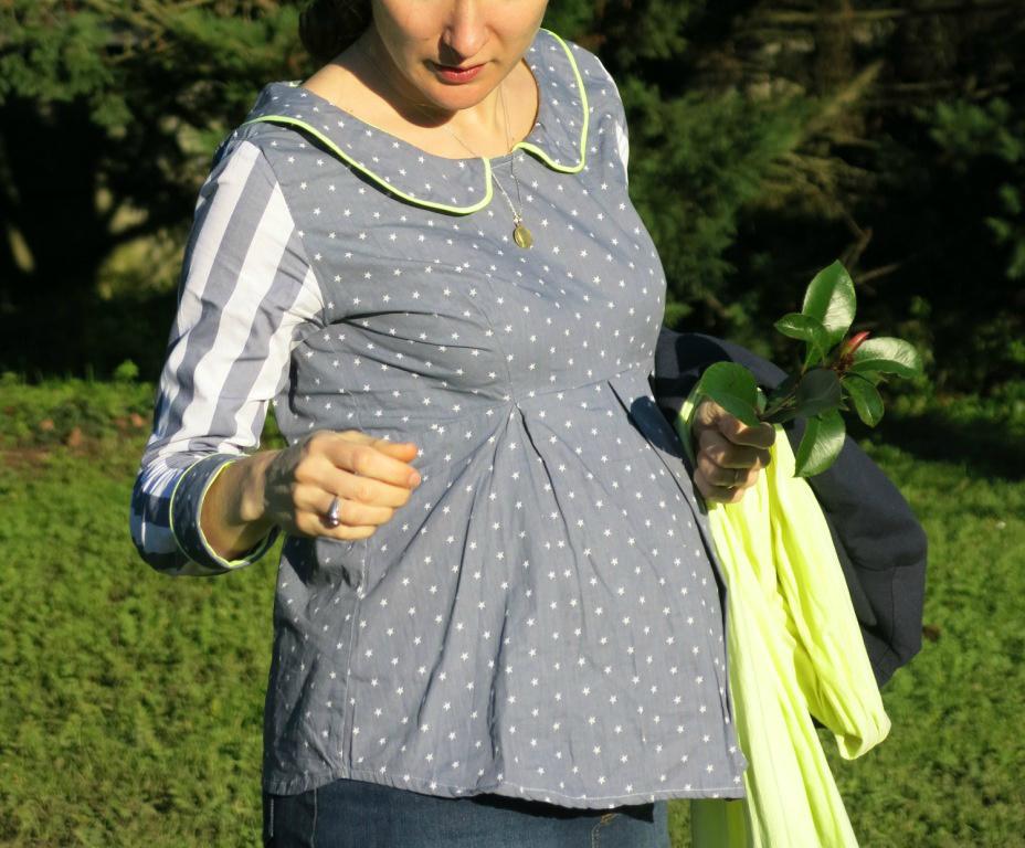 Garde-robe de grossesse #4 : Tunique 12h à col Claudine