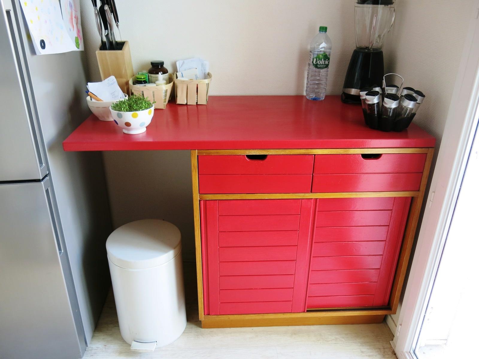 comptoir de cuisine repeint
