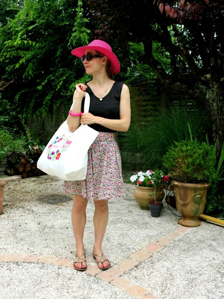 Look avec Sac Tunetoo fleuri Pimprelys