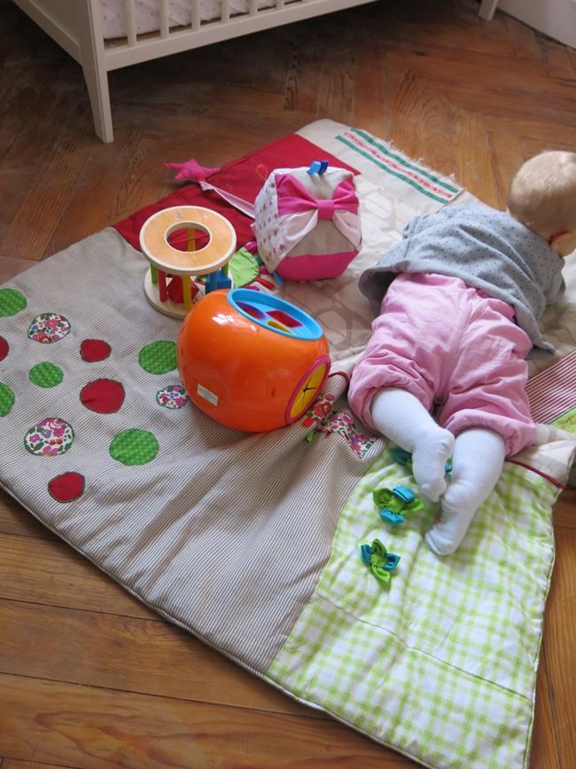 Tapis d'éveil récup patchwork