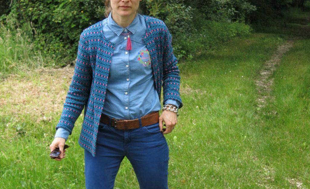 Pimprelys Tunetoo Chemise en jean bleu