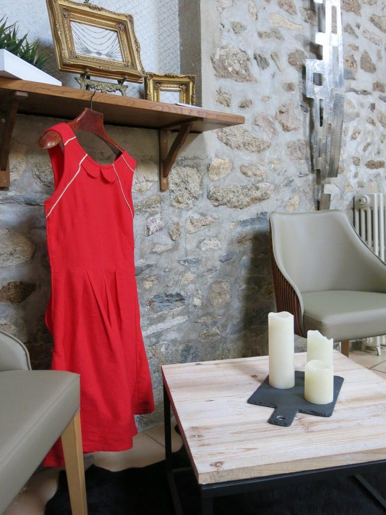 Robe rouge mariée