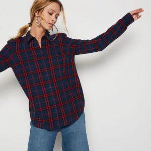 Chemise à carreaux Monoprix