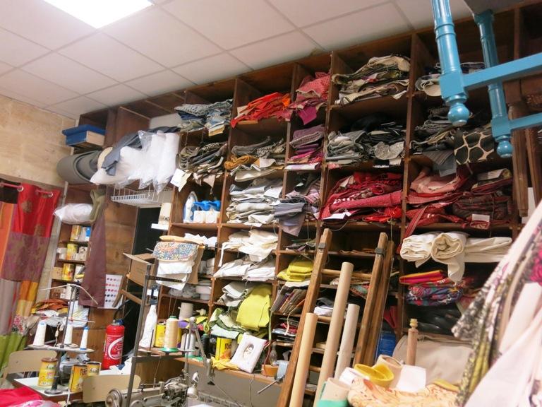 Collection et chutes de tissu
