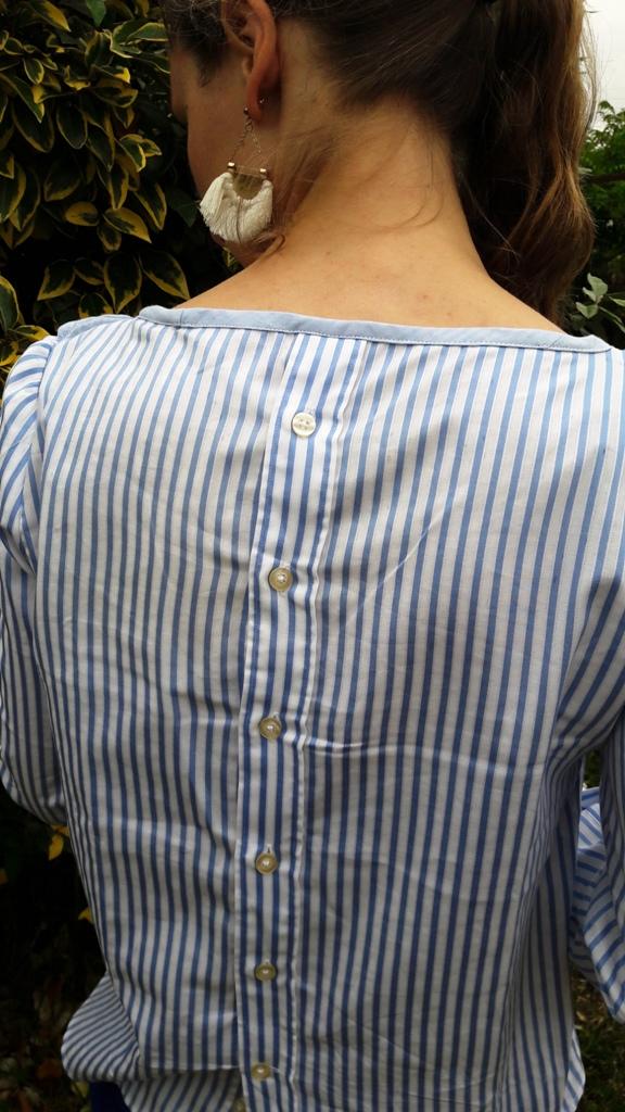 dos de blouse boutonnées