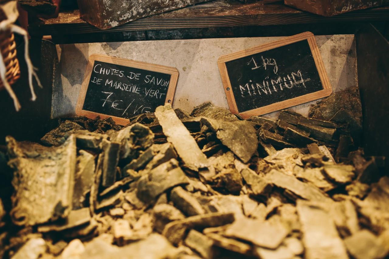 Chutes de savon de Marseille