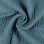 Tissu double gaze bleu