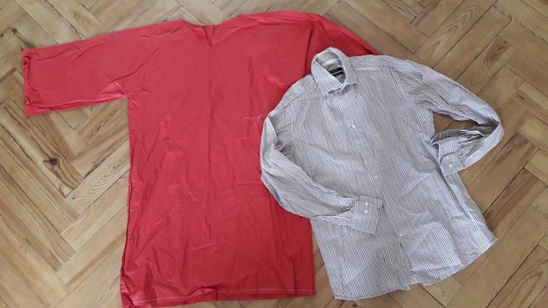 robe à volant en chemise d'homme-4