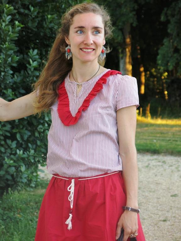 robe à volant en chemise d'homme 8