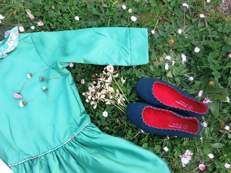 Robe verte taille basse 2