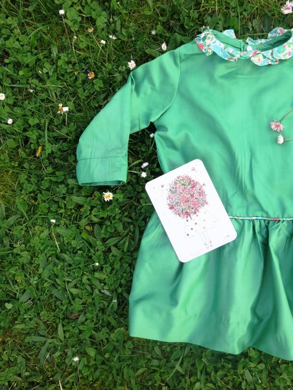 Robe verte taille basse 3