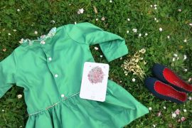 Robe verte taille basse 6