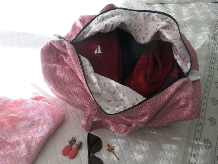 Sac week-end rose Aime comme Marie 5