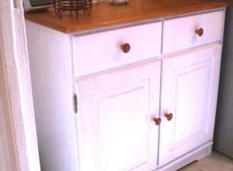 vaisselier blanchi shabby cuisine