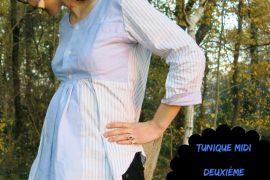 tunique midi en chemise d'homme