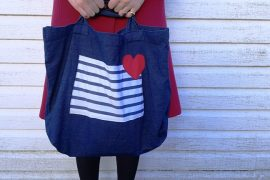 Customiser un tote-bag pour la saint valentin 2