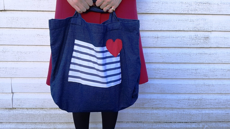 Customiser un tote-bag pour la saint valentin 2