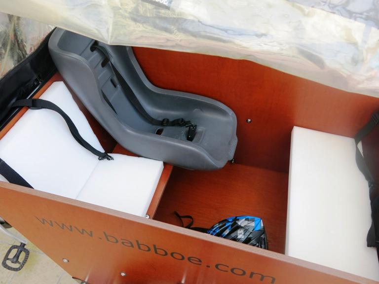 Coussins pour vélo cargo 1