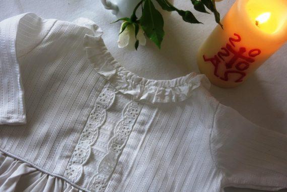 Robe de baptême récup confinement 5
